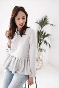 sweat-leonore-gris
