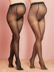 lot-de-2-collants-de-grossesse-maille-fantaisie